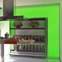 Cocina de Exposicion con armario movil - Portafolio de proyectos de interiorismo y rehabilitación en Barcelona Interior Studio