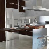 Cocina en madera de wenge - Portafolio de proyectos de interiorismo y rehabilitación en Barcelona Interior Studio